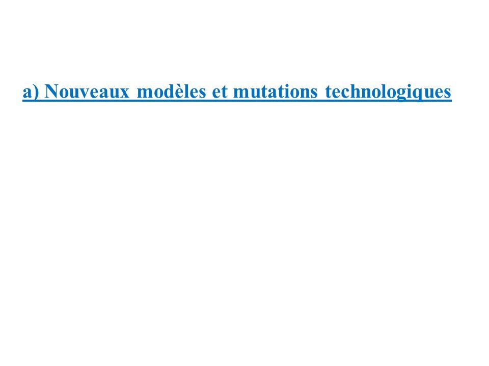 a) Nouveaux modèles et mutations technologiques