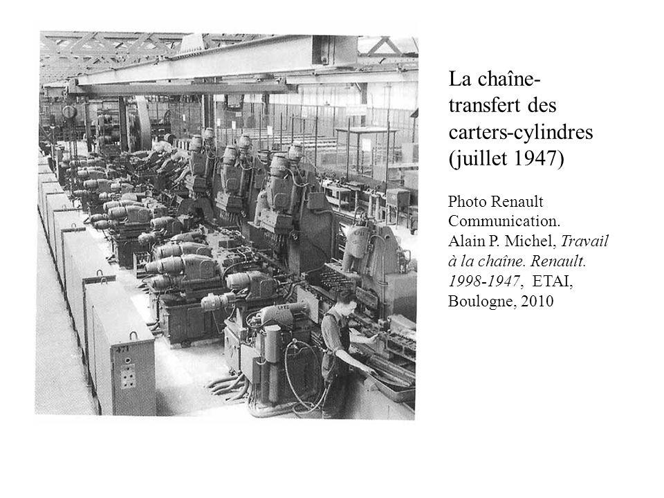 La chaîne-transfert des carters-cylindres (juillet 1947)