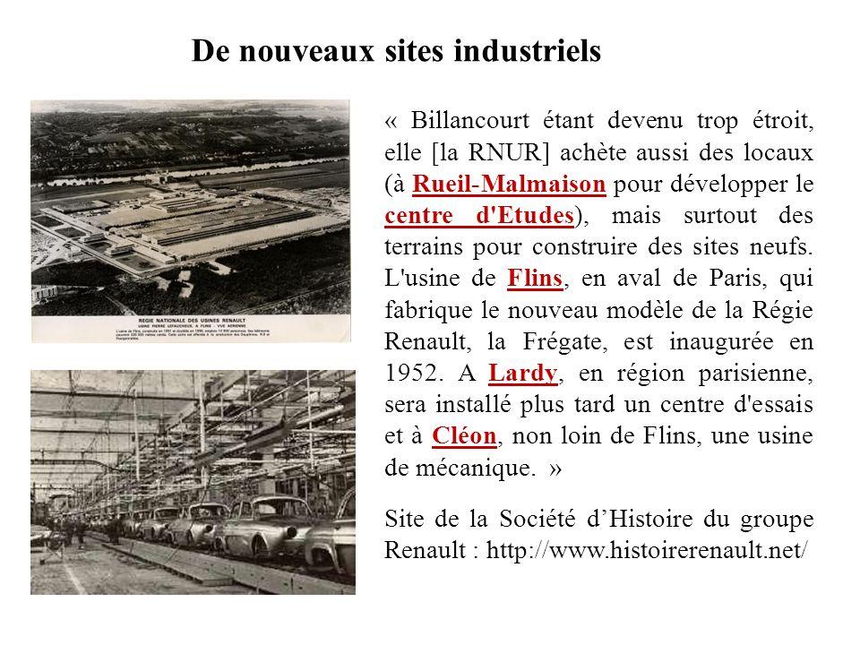 De nouveaux sites industriels
