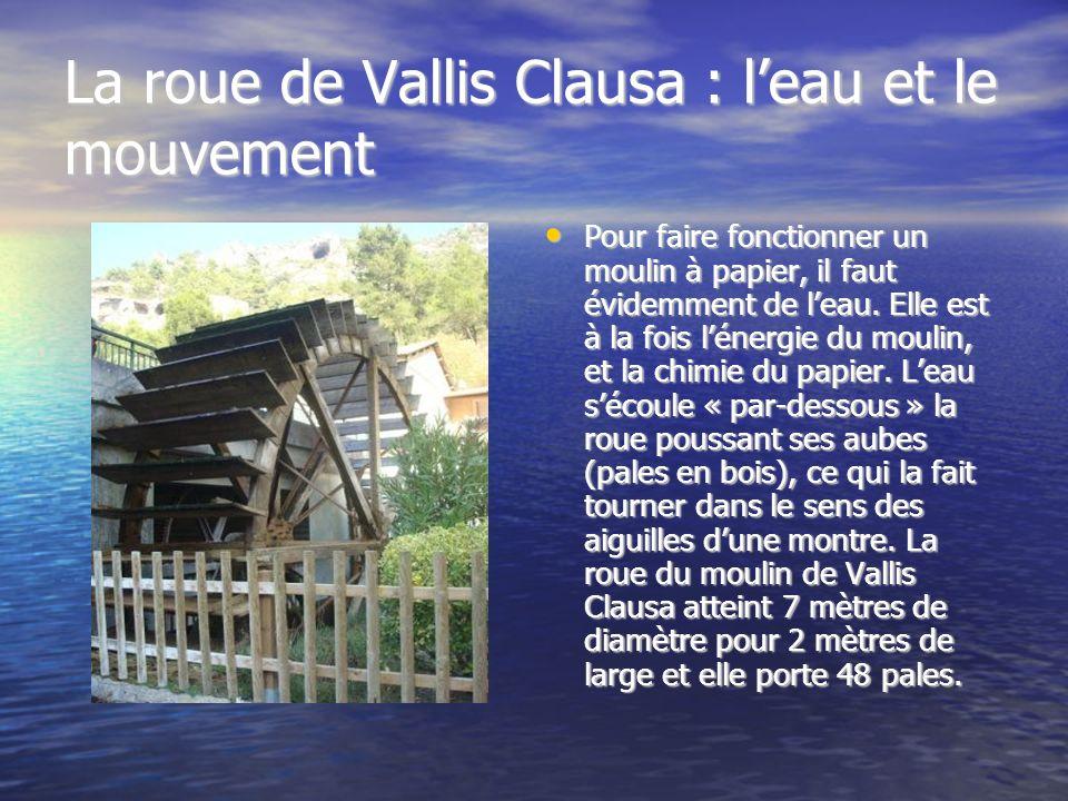 La roue de Vallis Clausa : l'eau et le mouvement