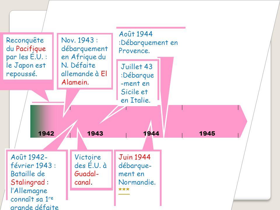Août 1944 :Débarquement en Provence.