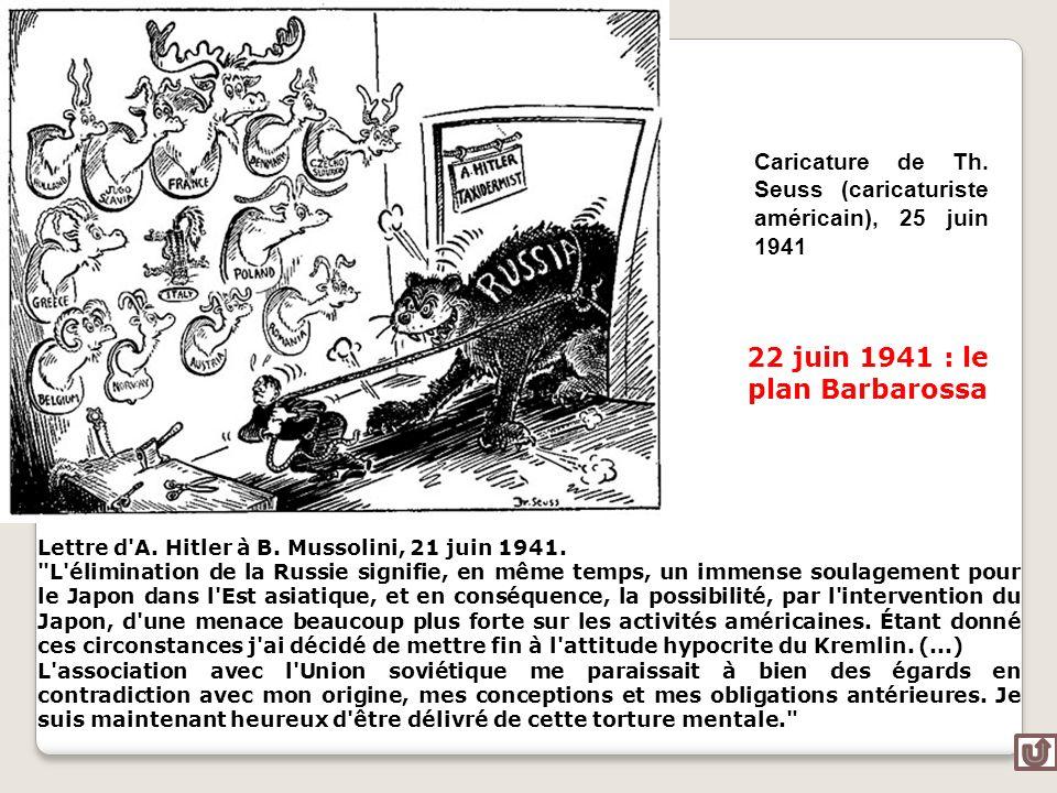 22 juin 1941 : le plan Barbarossa