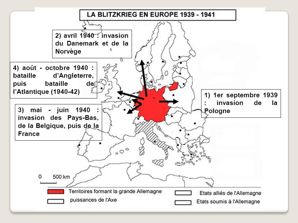 2) avril 1940 : invasion du Danemark et de la Norvège