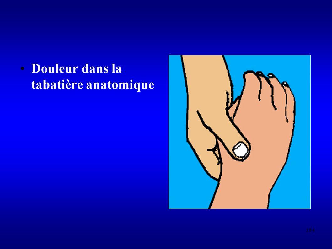 Douleur dans la tabatière anatomique
