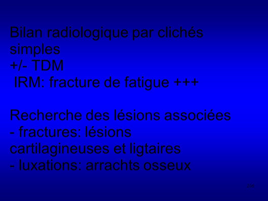 Bilan radiologique par clichés simples +/- TDM