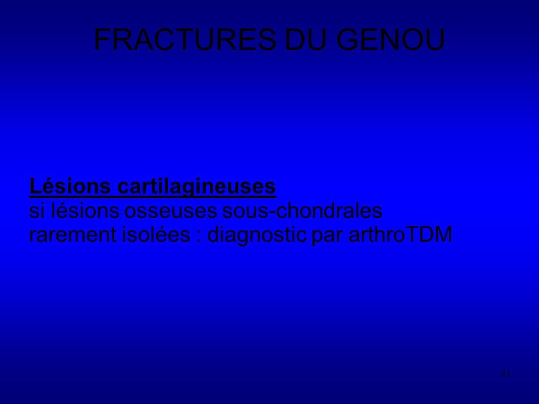 FRACTURES DU GENOU Lésions cartilagineuses