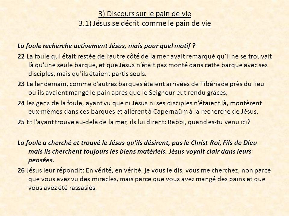 3) Discours sur le pain de vie 3