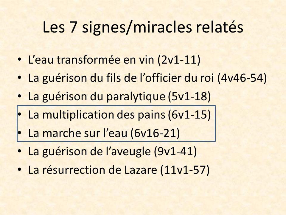 Les 7 signes/miracles relatés