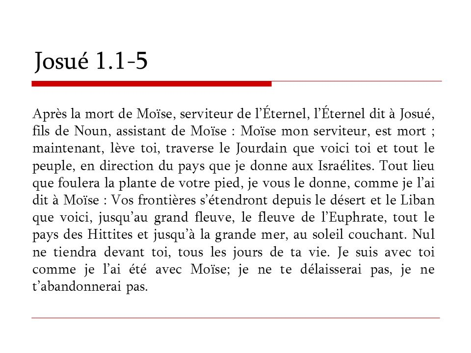 Josué 1.1-5