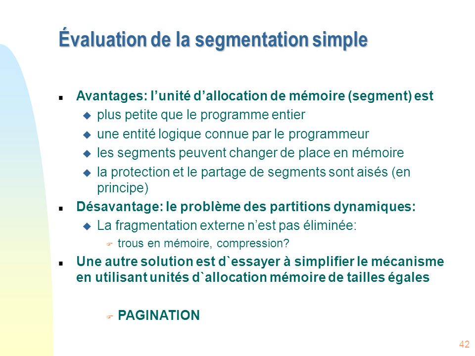 Évaluation de la segmentation simple