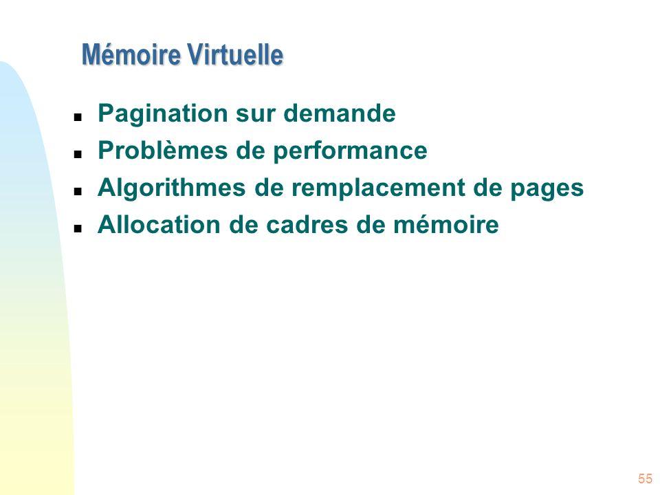 Mémoire Virtuelle Pagination sur demande Problèmes de performance
