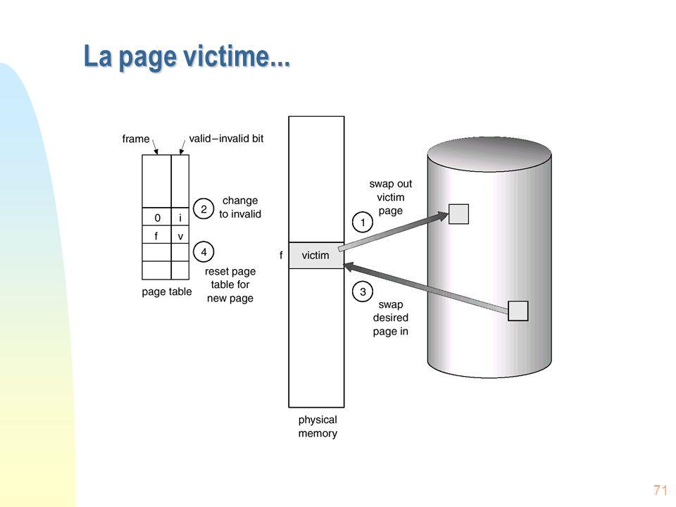 La page victime...