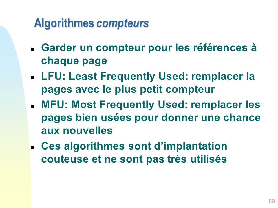 Algorithmes compteurs