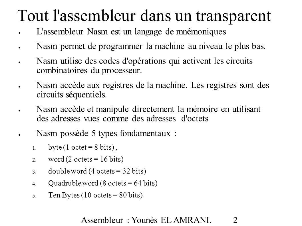 Tout l assembleur dans un transparent