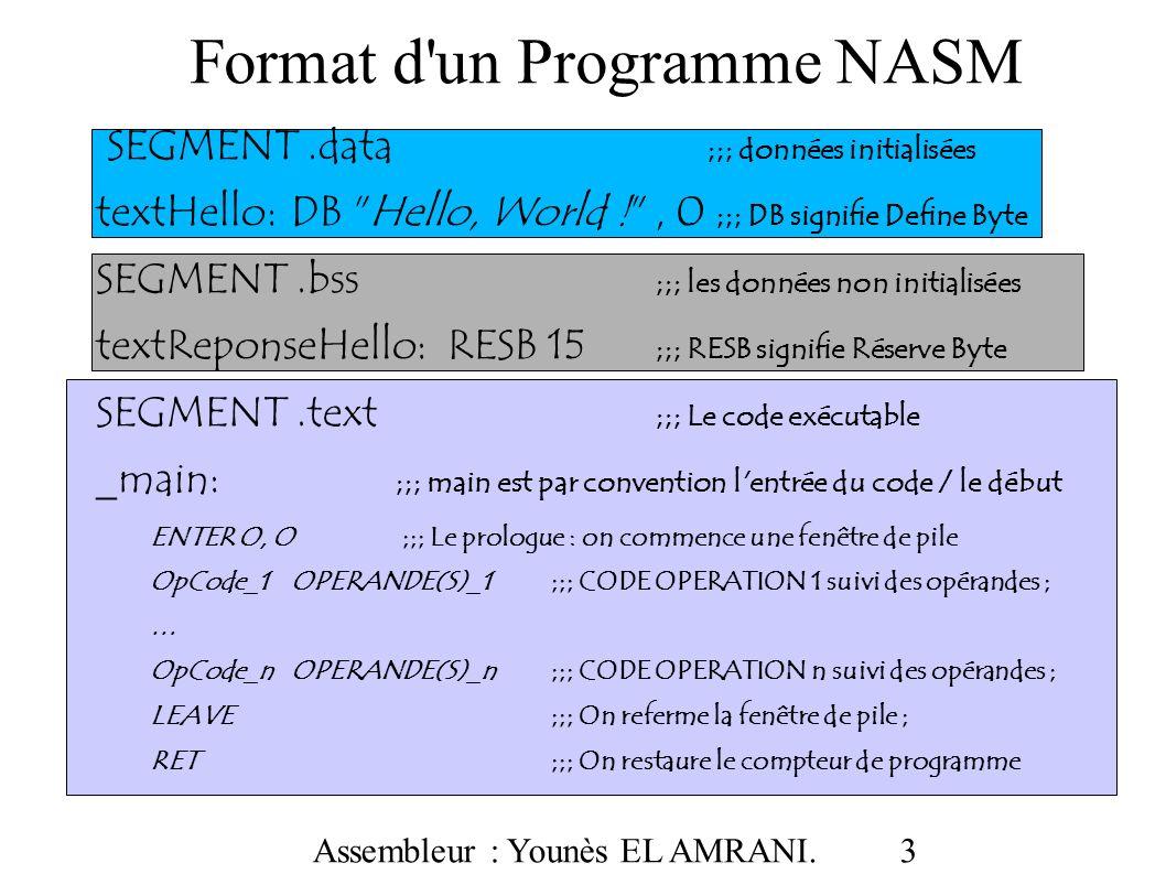 Format d un Programme NASM