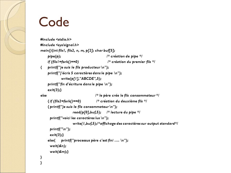 Code #include <stdio.h> #include <sys/signal.h>