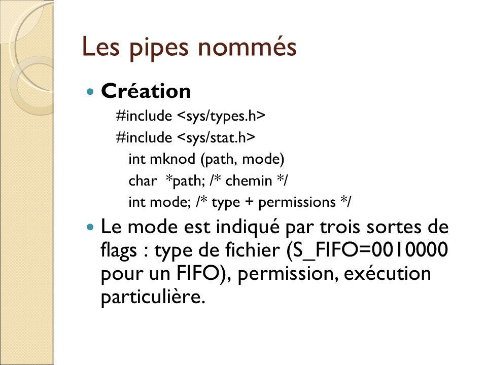 Les pipes nommés Création