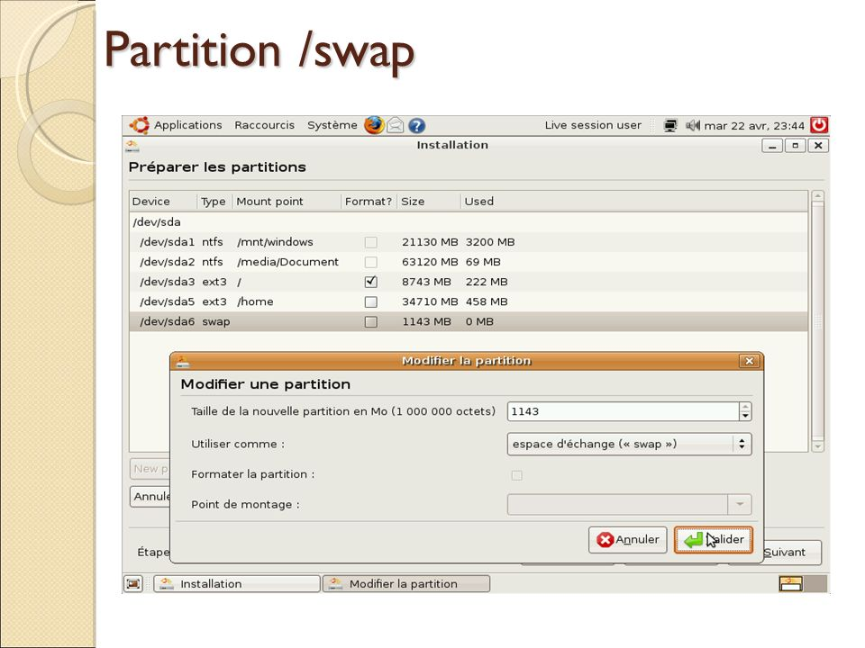 Partition /swap