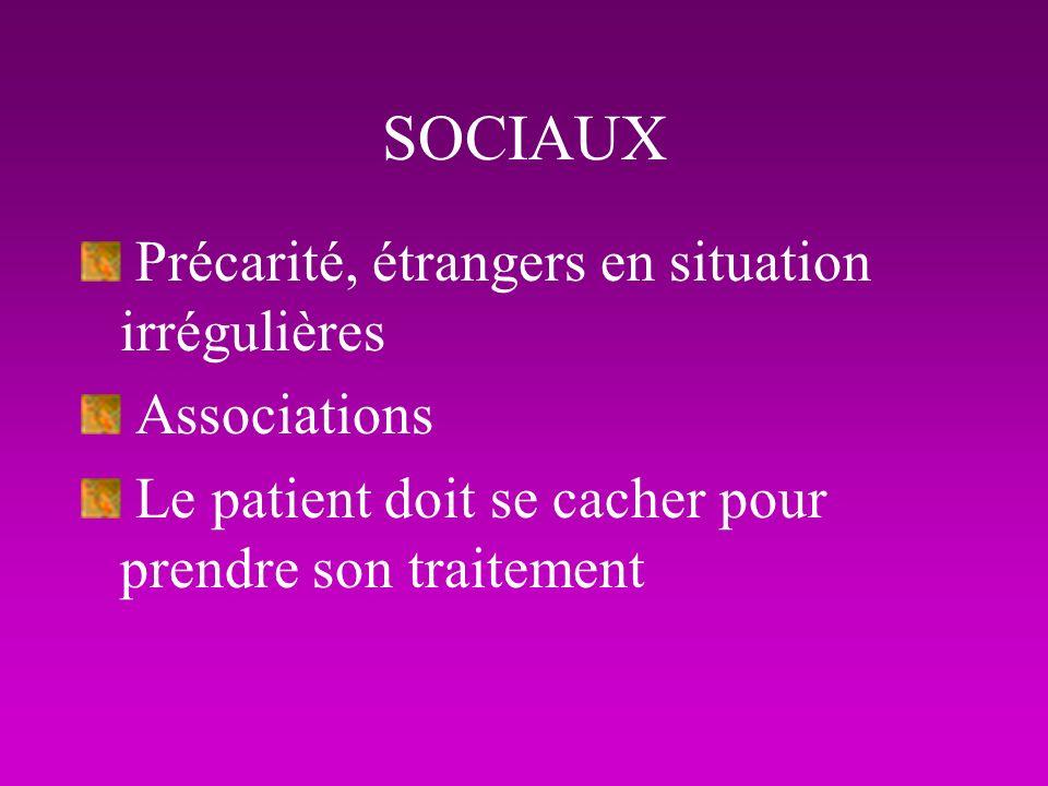 SOCIAUX Précarité, étrangers en situation irrégulières Associations