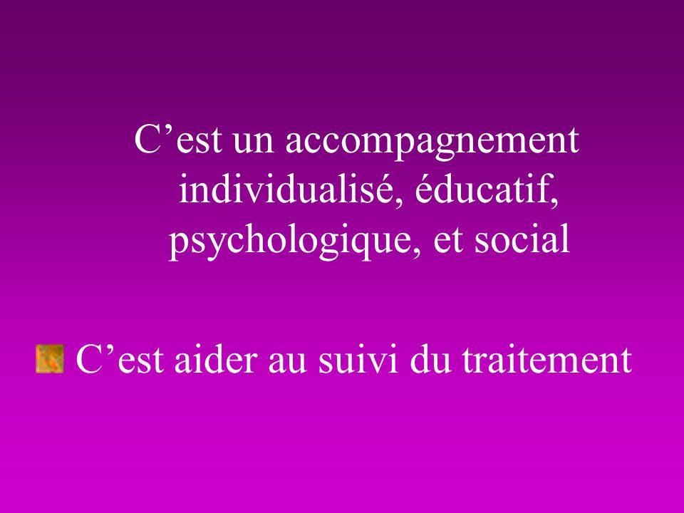 C'est un accompagnement individualisé, éducatif, psychologique, et social