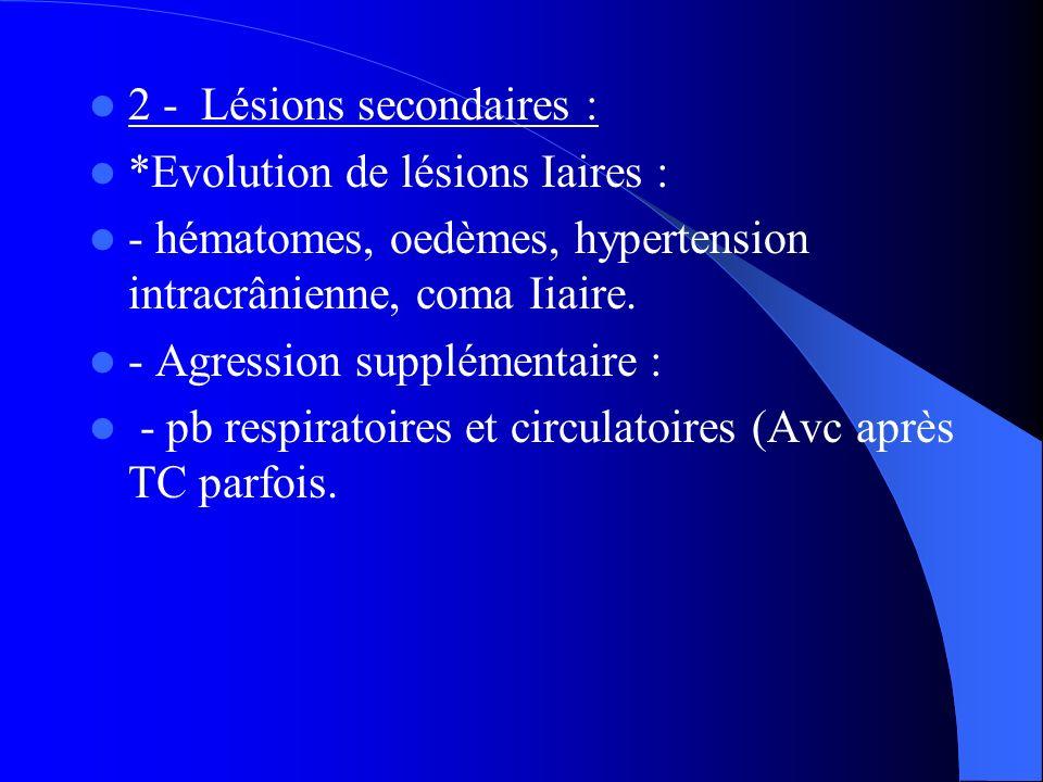 2 - Lésions secondaires :