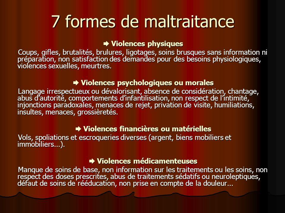 7 formes de maltraitance