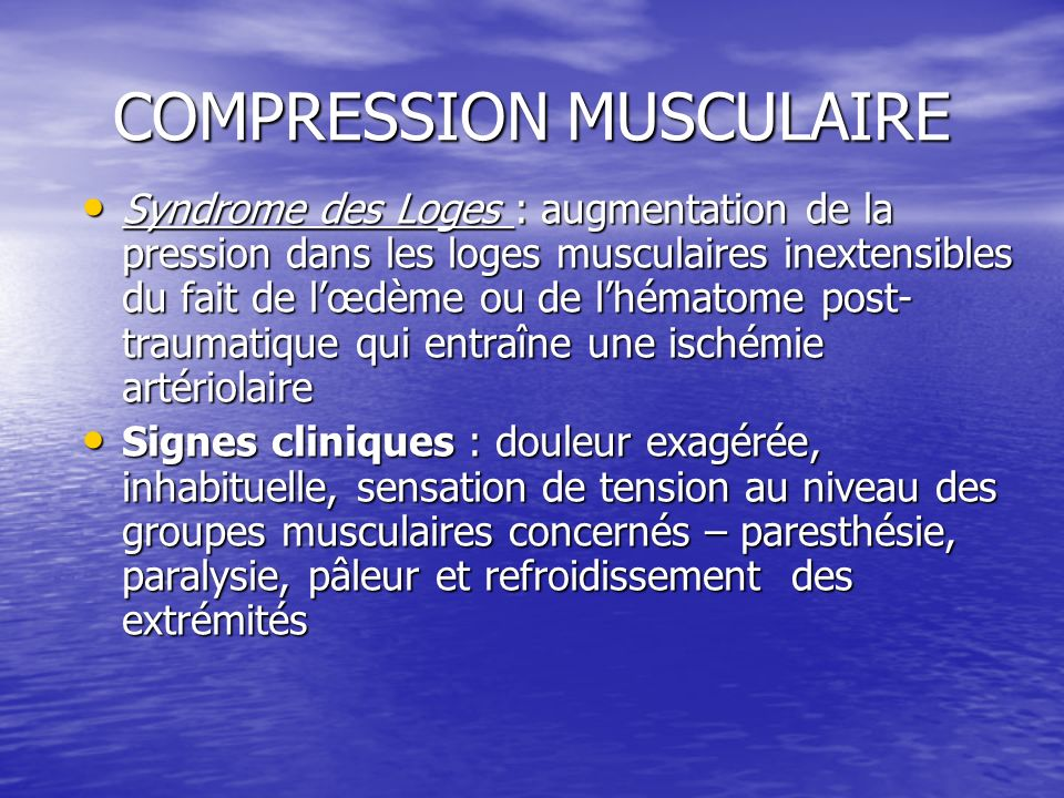 COMPRESSION MUSCULAIRE