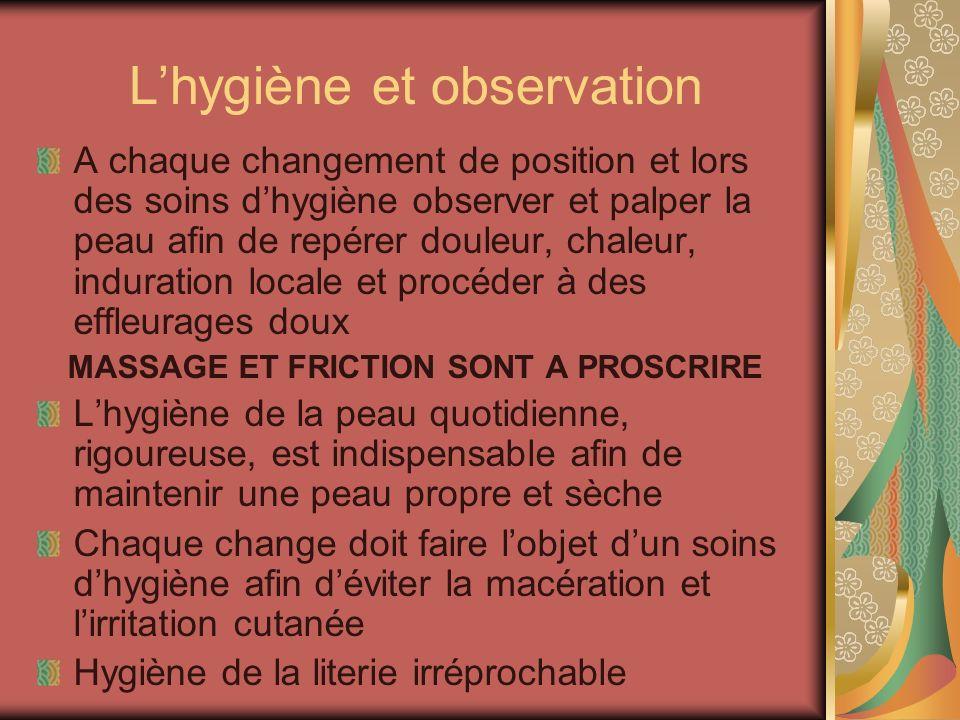 L'hygiène et observation