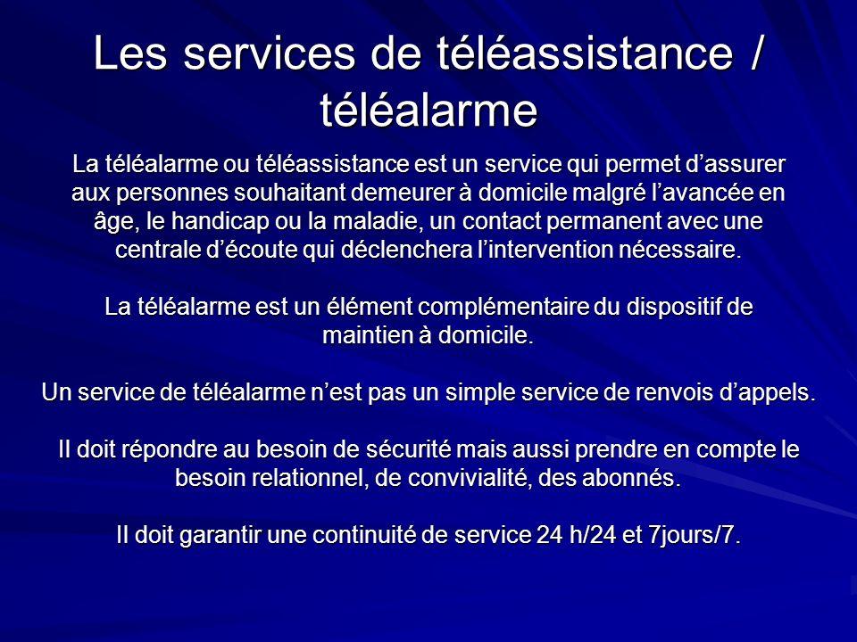 Les services de téléassistance / téléalarme