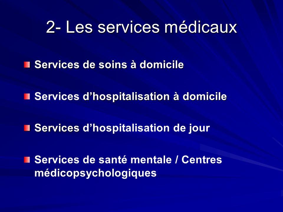 2- Les services médicaux