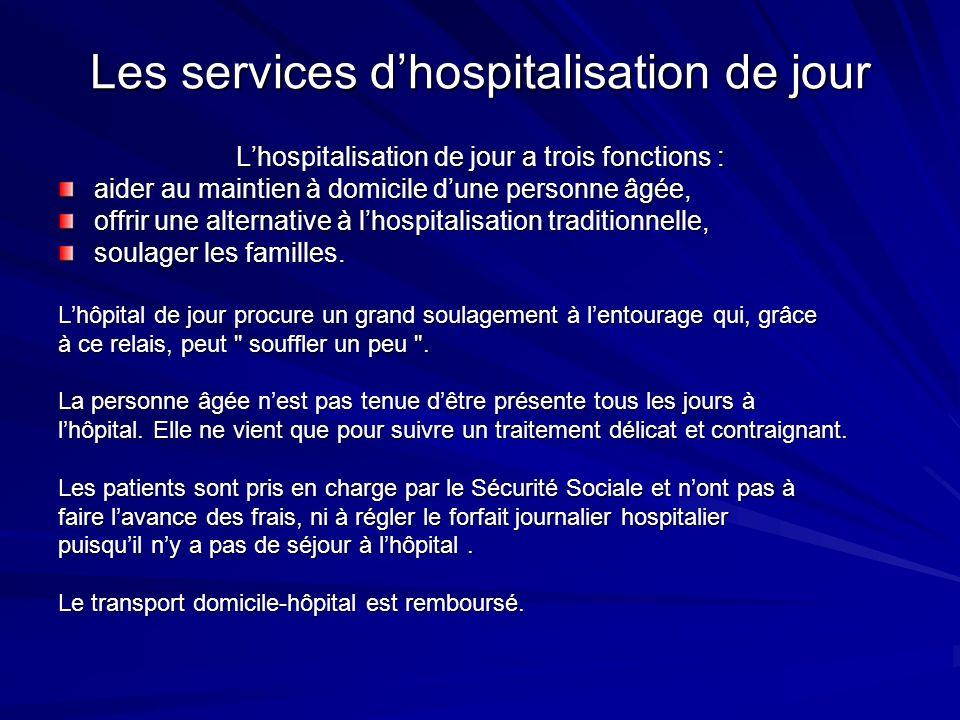 Les services d'hospitalisation de jour