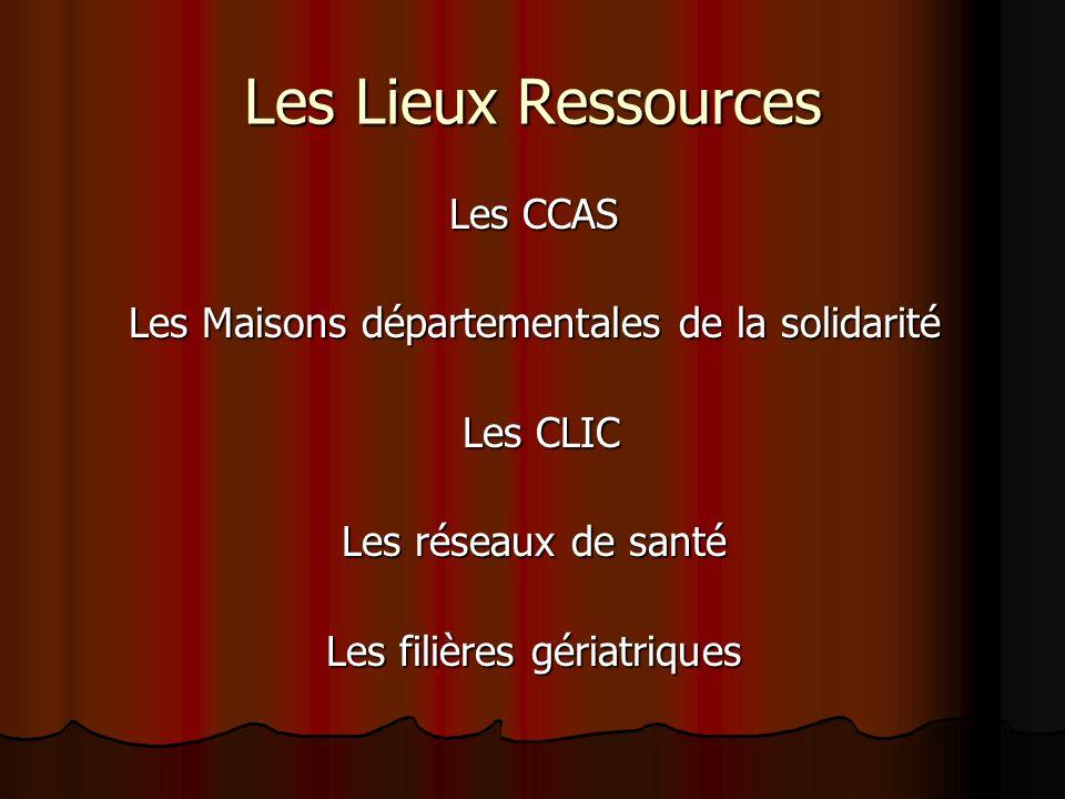Les Lieux Ressources Les CCAS