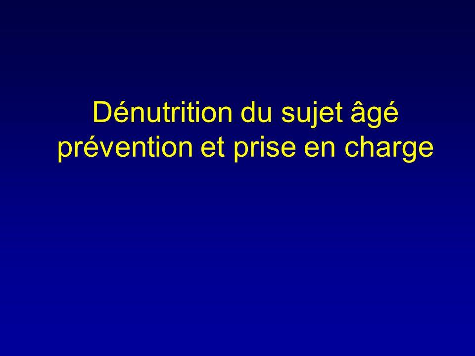 Dénutrition du sujet âgé prévention et prise en charge