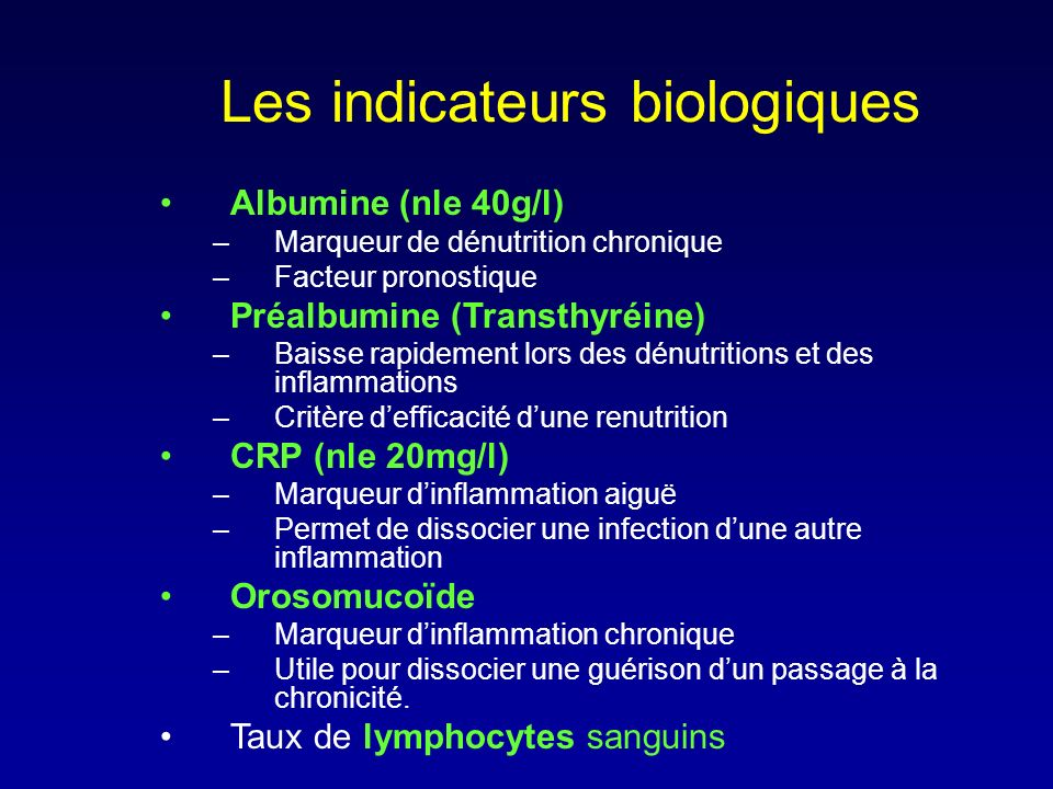 Les indicateurs biologiques