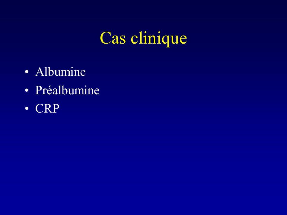 Cas clinique Albumine Préalbumine CRP