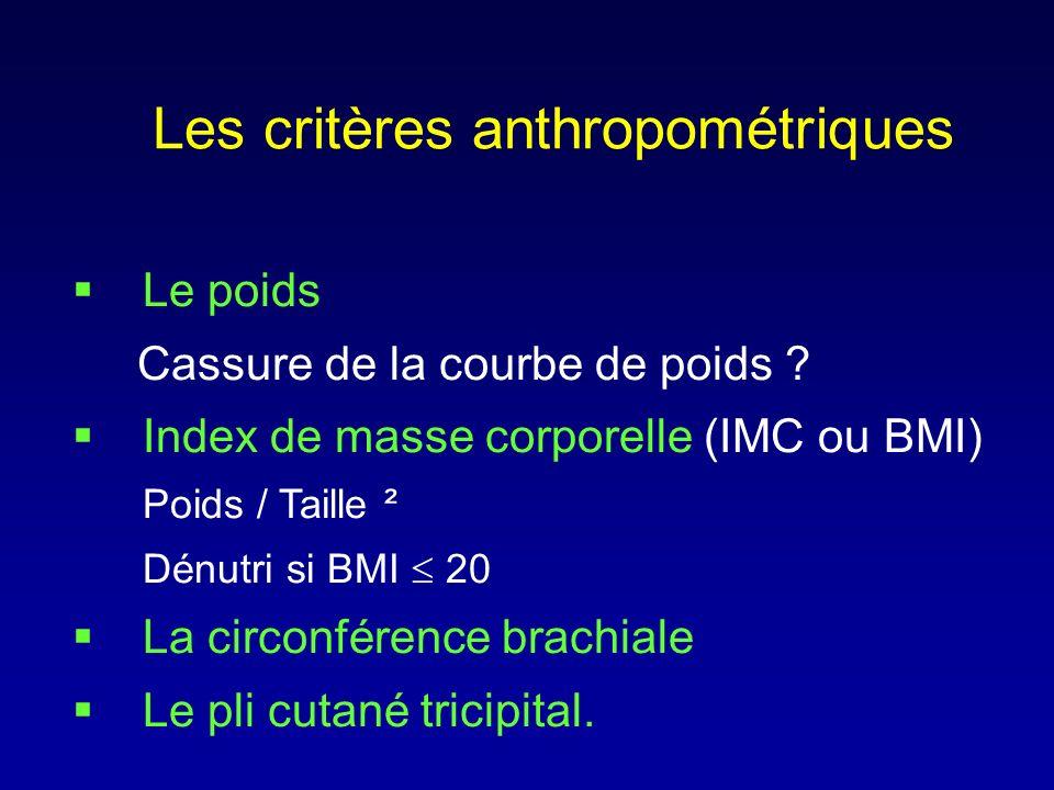 Les critères anthropométriques