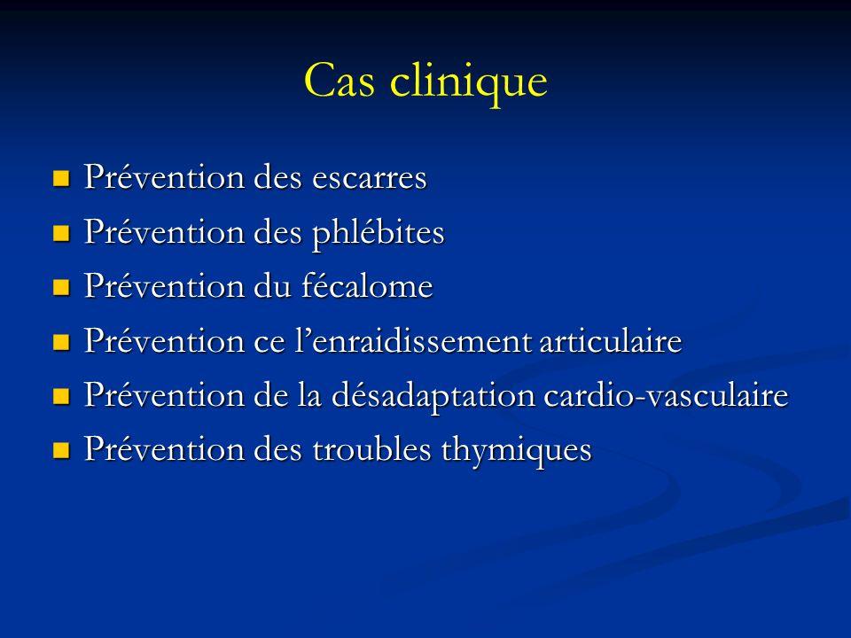 Cas clinique Prévention des escarres Prévention des phlébites