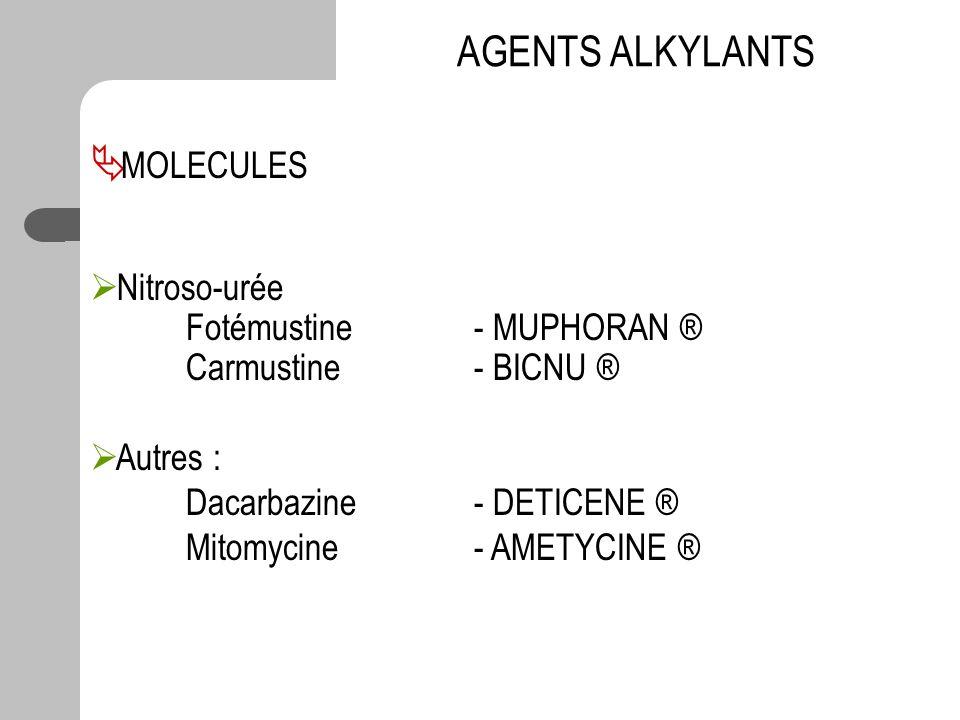 AGENTS ALKYLANTS MOLECULES Nitroso-urée Fotémustine - MUPHORAN ®
