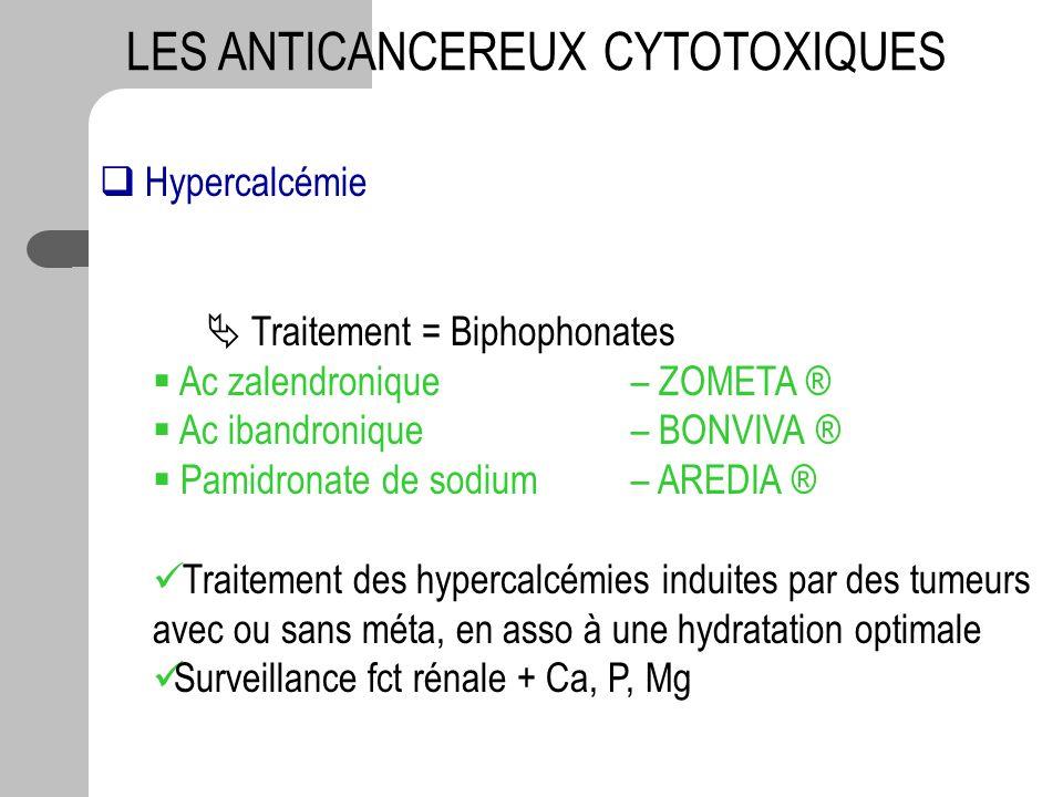 LES ANTICANCEREUX CYTOTOXIQUES