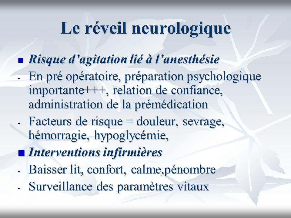 Le réveil neurologique