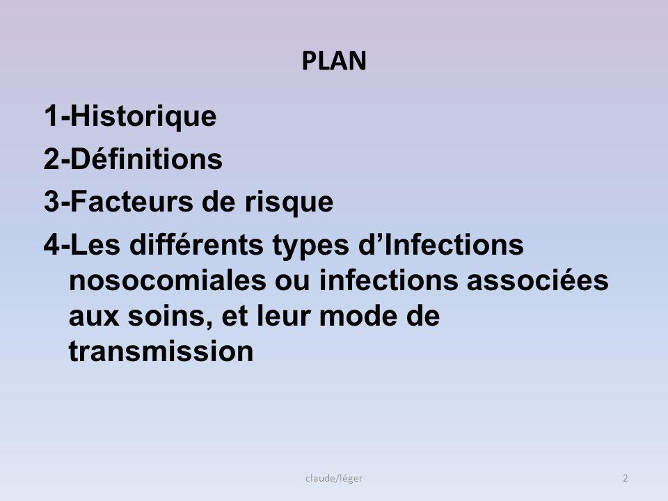 PLAN 1-Historique 2-Définitions 3-Facteurs de risque