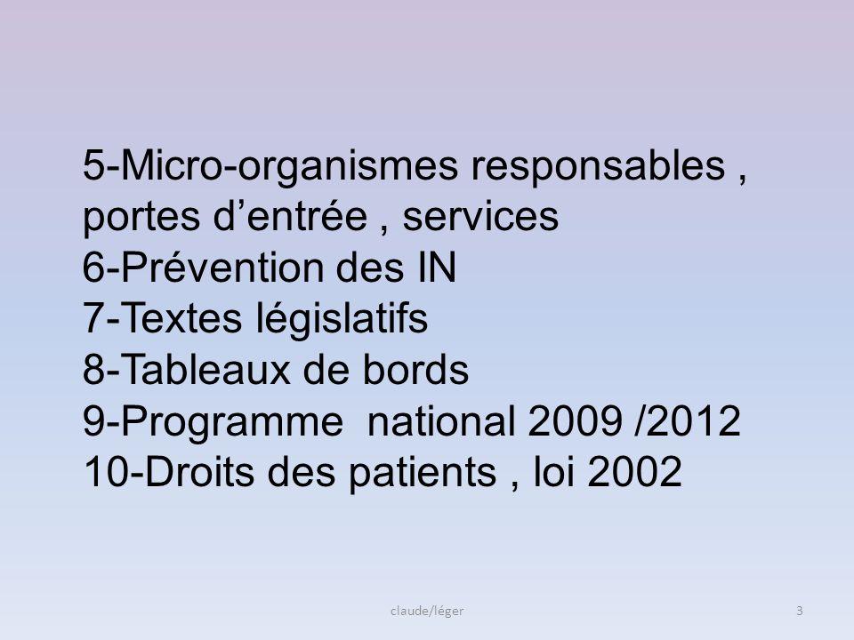5-Micro-organismes responsables , portes d'entrée , services