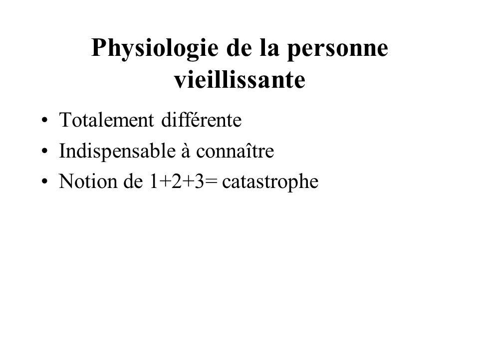 Physiologie de la personne vieillissante