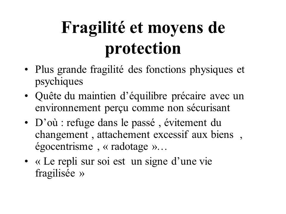 Fragilité et moyens de protection