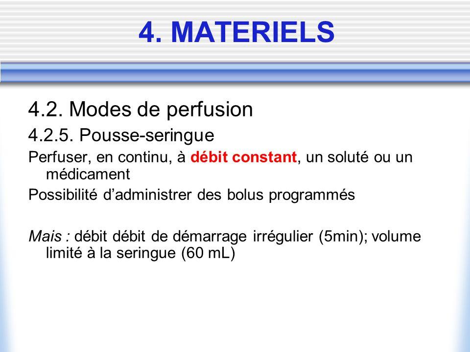 4. MATERIELS 4.2. Modes de perfusion 4.2.5. Pousse-seringue