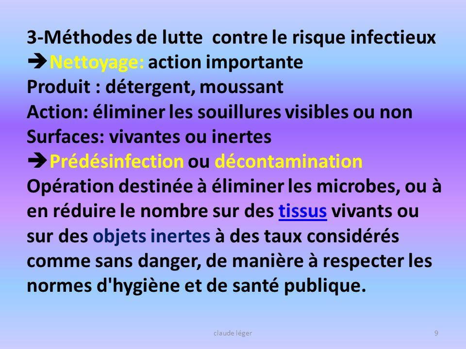 3-Méthodes de lutte contre le risque infectieux