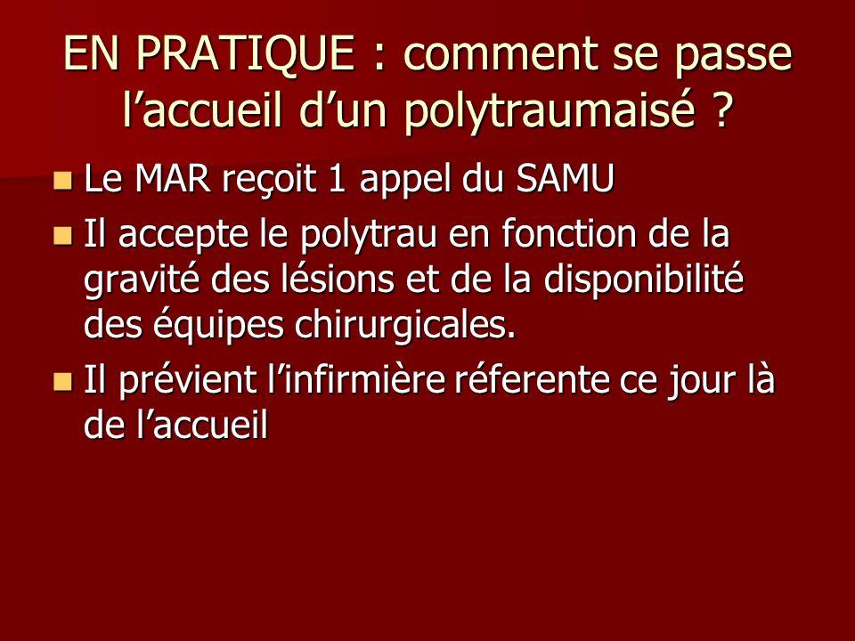EN PRATIQUE : comment se passe l'accueil d'un polytraumaisé