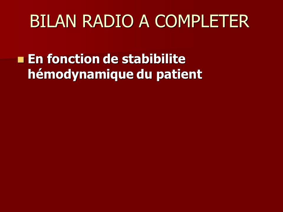 BILAN RADIO A COMPLETER