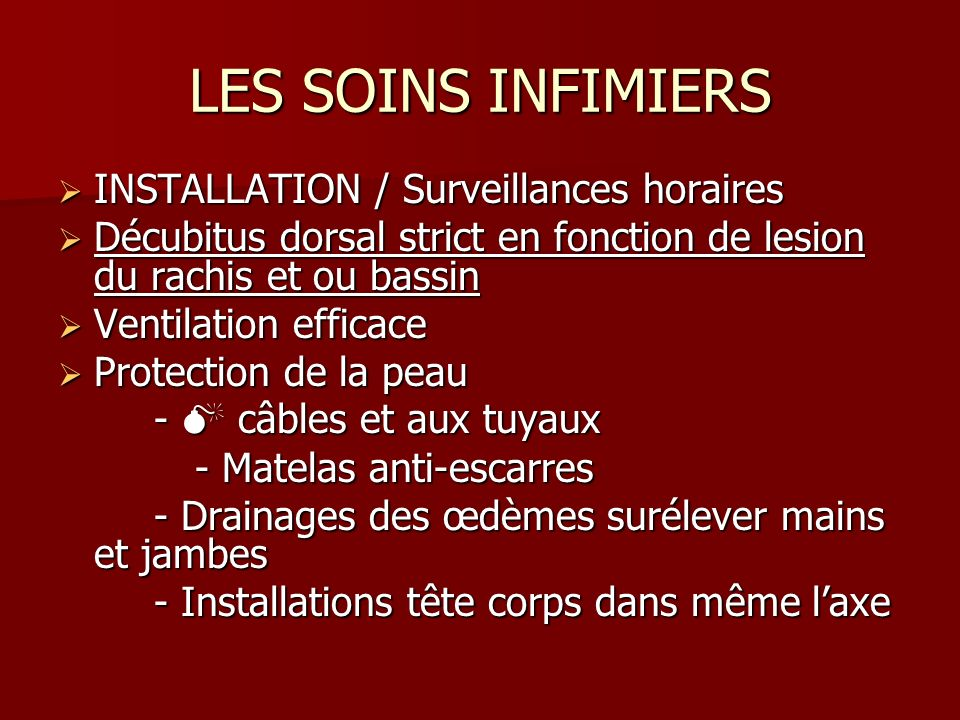 LES SOINS INFIMIERS INSTALLATION / Surveillances horaires