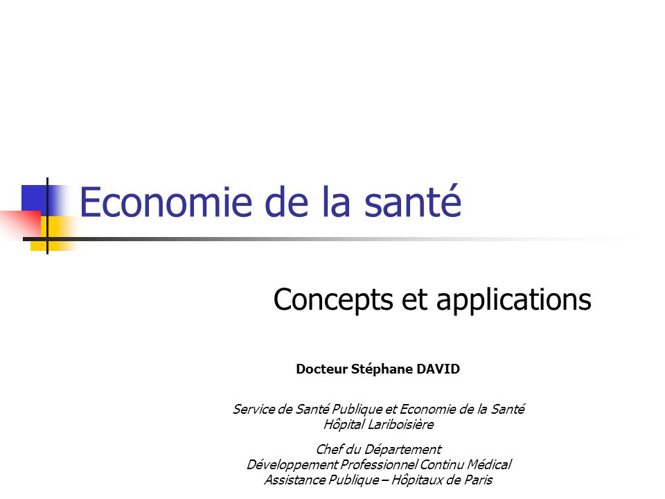 Concepts et applications